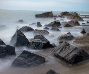 rock, sea, and water image