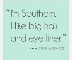 big hair, eyeliner, and Texas image