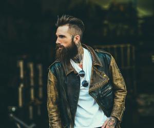 beard, sexy, and guy image