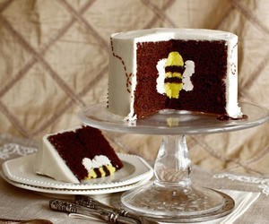 bee, cake, and chocolate image