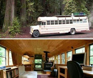 bus, house, and funny image