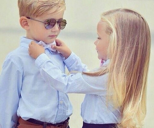 Images of cute baby boy and girl