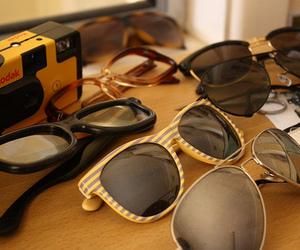 kodak, camera, and sunglasses image