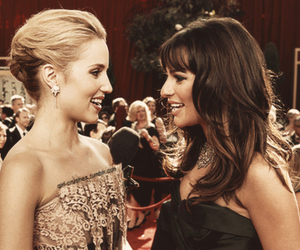 lea michele, dianna agron, and glee image