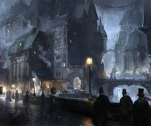 concept art, scene, and steampunk image