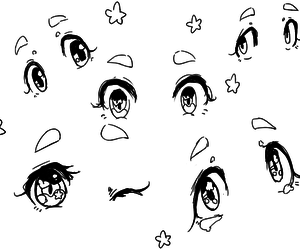 draw, cute, and eye image