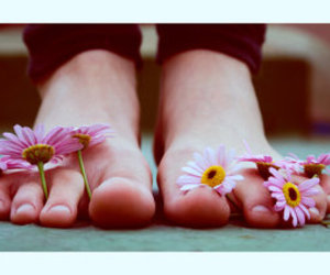 feet and flowers image