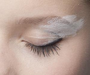 brow, makeup, and white image