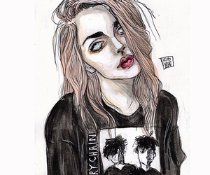 drawing, frances bean cobain, and grunge image