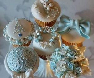 cupcake, christmas, and blue image