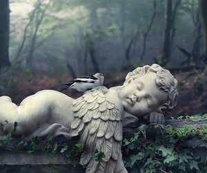 angel, bird, and sculpture image