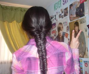 braid, justin bieber, and peace image