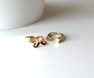 rings, gold, and jewelry image