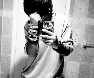 bands, black and white, and emo image