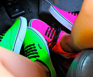 green, vans, and legs image