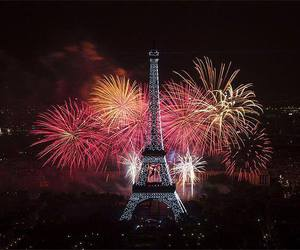 paris and fireworks image