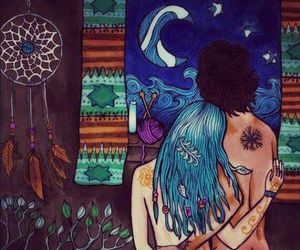 love, hippie, and couple image