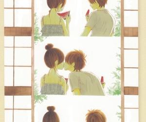 anime, bra, and hug image