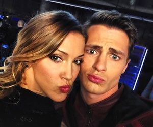 arrow, katie cassidy, and colton haynes image