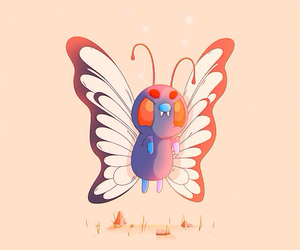 butterfly, wings, and comic image