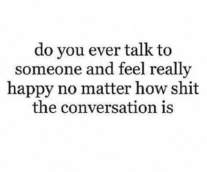 happy, conversation, and girl image