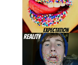 expectation, funny, and reality image