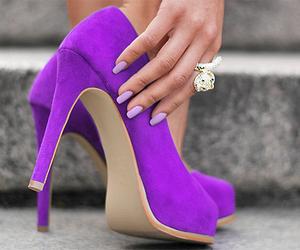 shoes, fashion, and purple image