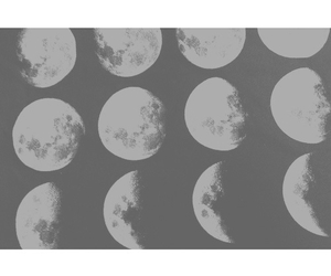 moon, indie, and hipster image