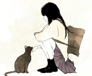 anime, cat, and art image