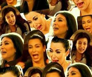 kim kardashian, crying, and funny image