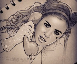 drawing, marina and the diamonds, and sketch image