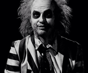 black and white, beetlejuice, and movie image