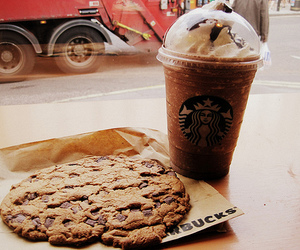 starbucks, cookie, and coffee image