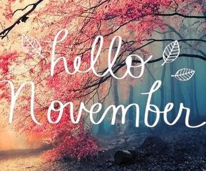 november, hello, and autumn image