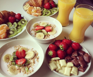 breakfast, fruit, and yumy image
