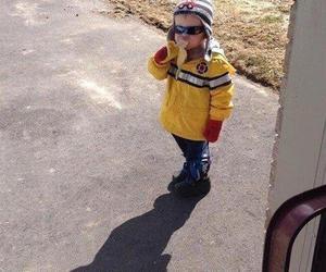 funny, banana, and kids image