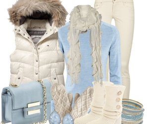 winter, outfit, and blue image