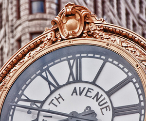 clock, fifth avenue, and new york image