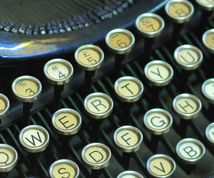 antique, typewriter, and Underwood image