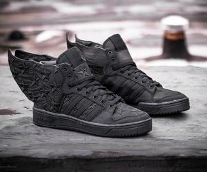 adidas, black, and Jeremy Scott image