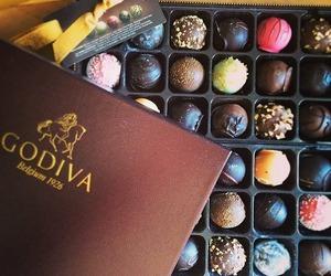 godiva, chocolate, and candy image