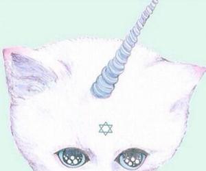 unicorn, cat, and pastel image