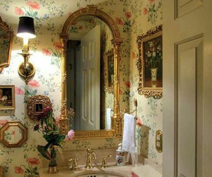 bathroom and floral image