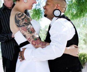 couple, piercing, and wedding image