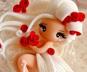 Blanc, fimo, and rose image