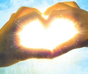 heart and hand sign image