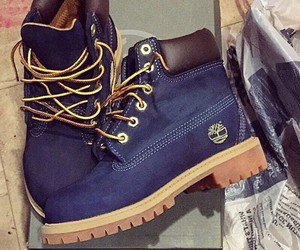 timberland, shoes, and blue image