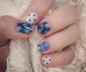 blue, christmas, and nails image