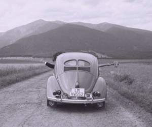 black and white, car, and photography image