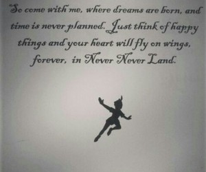 dreams come true, peter pan, and never never land image